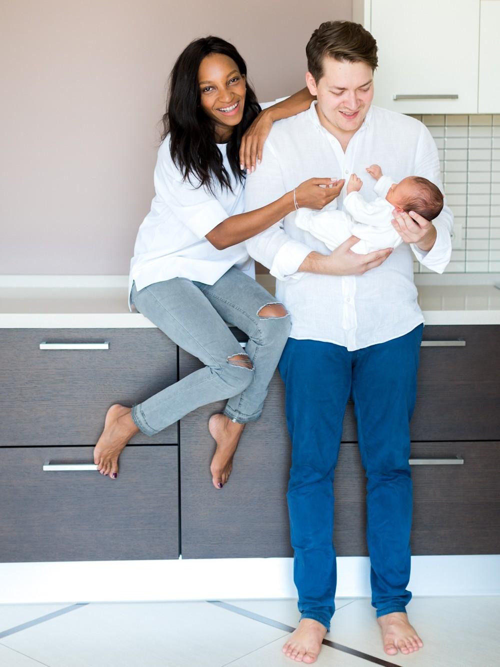 Lifestyle newborn session with little David