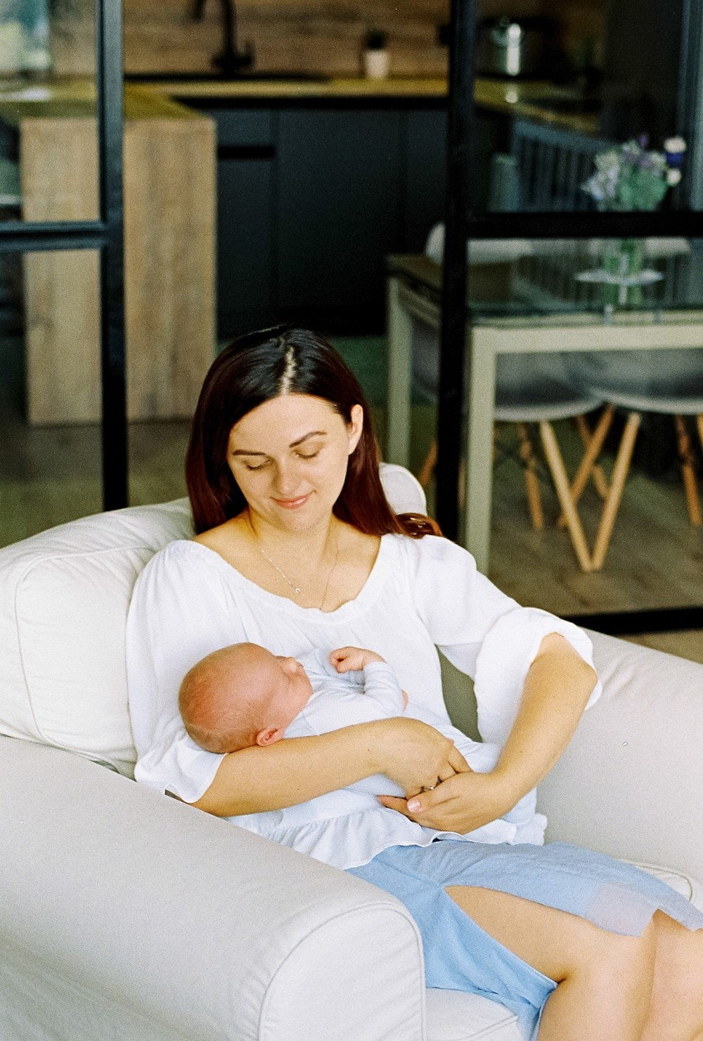 Cozy newborn session at home