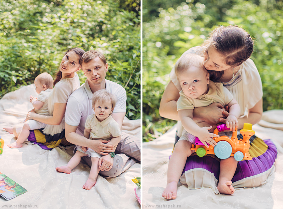 Дружная семья Марины и Паши