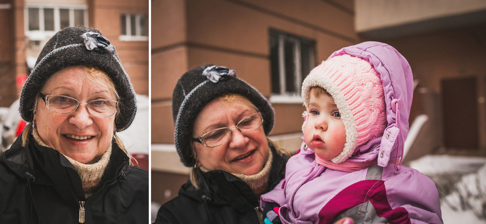 Семья - Зимняя прогулка с Вероникой