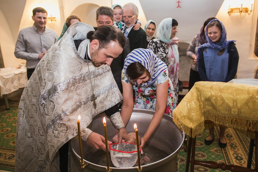 Крещение малыша - Церемония крещения малыша