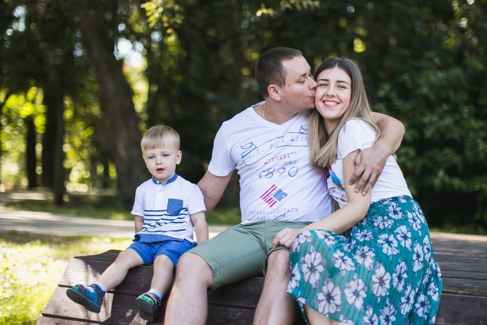 Семья - Карина и Дима со Степой