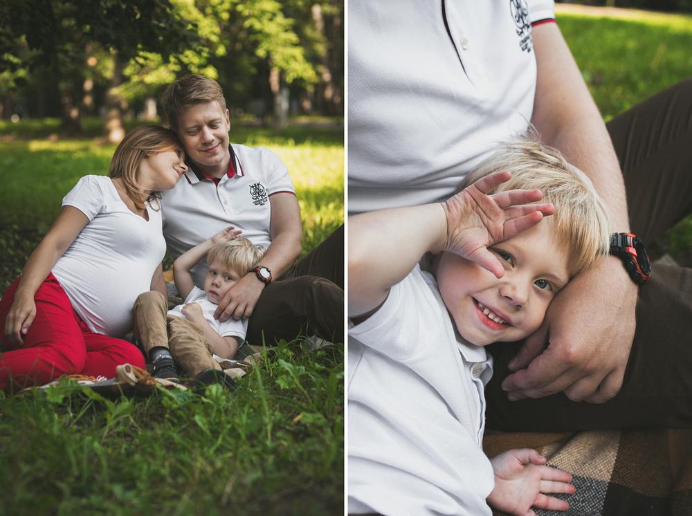 Семья - Алена и Илья с Арсением. Ожидание.