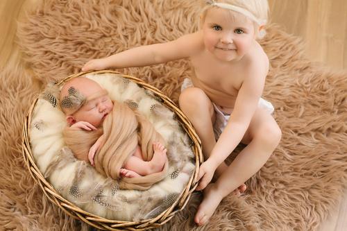 Съмка новорожденных дома.
