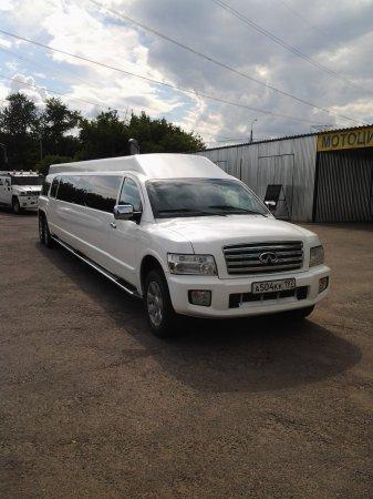 Белый лимузин Infinity | 504,  30 мест
