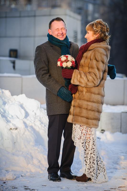 WEDDINGS (СВАДЬБЫ) - Alexey & Anya - Зимняя Свадьба Алексея и Ани мост Багратион ресторан Сити клаб (City club)