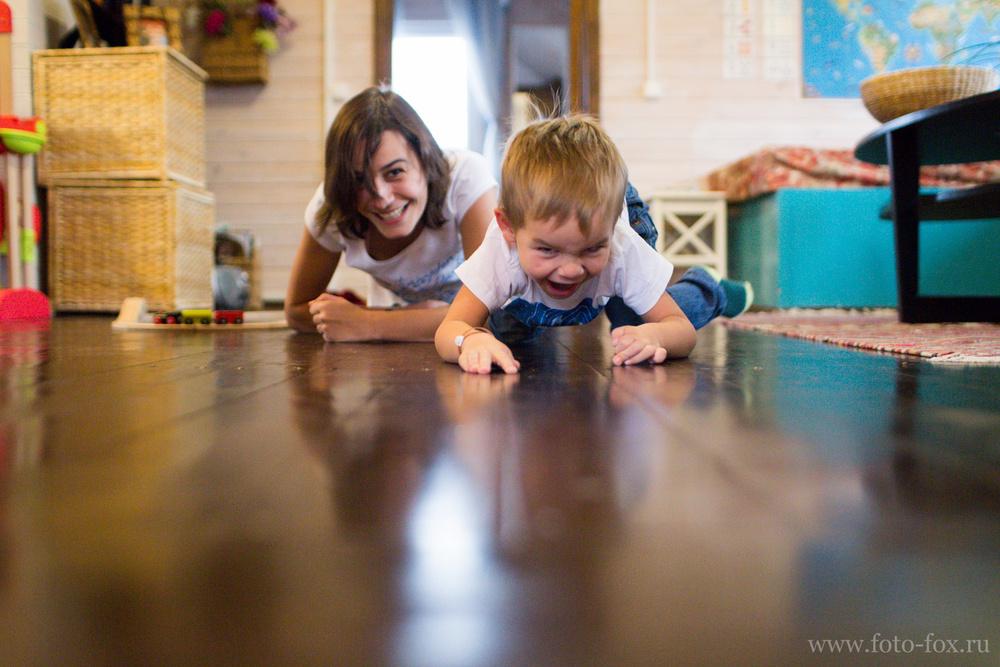 фотосессия дома с ребенком