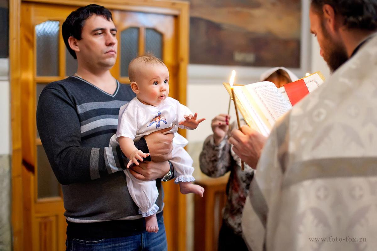 крещение ребенка +в церкви
