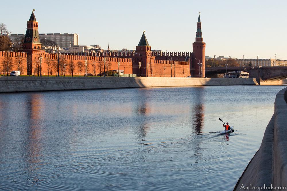 Москва-экстрим вдоль стен Кремля