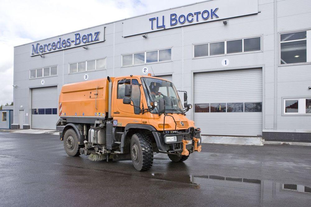 вакуумный пылесос Trilety TK35 на базе Мерседес Унимог U400 в Санкт-Петербурге