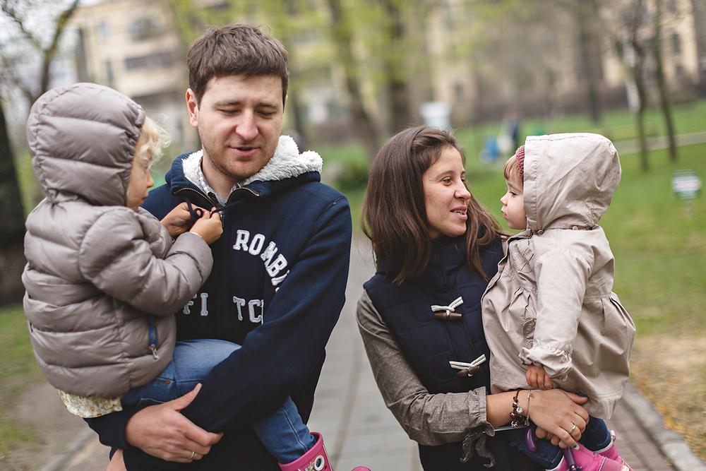 Ksenia and Maxim family