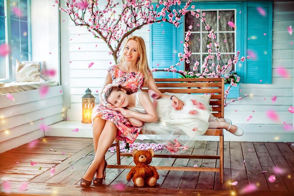 Классная фото сессия матери с дочкой