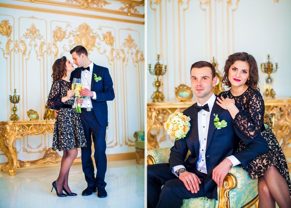Зимняя свадебная фото сессия от Татьяны Поповой в студии