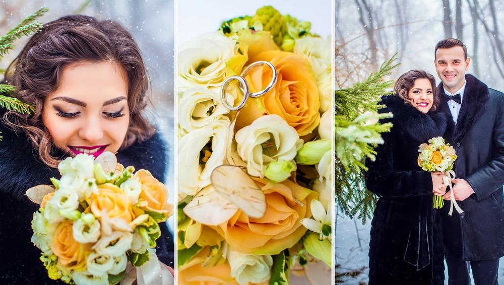 Свадебная фото сессия от Татьяны Поповой с живыми цветами