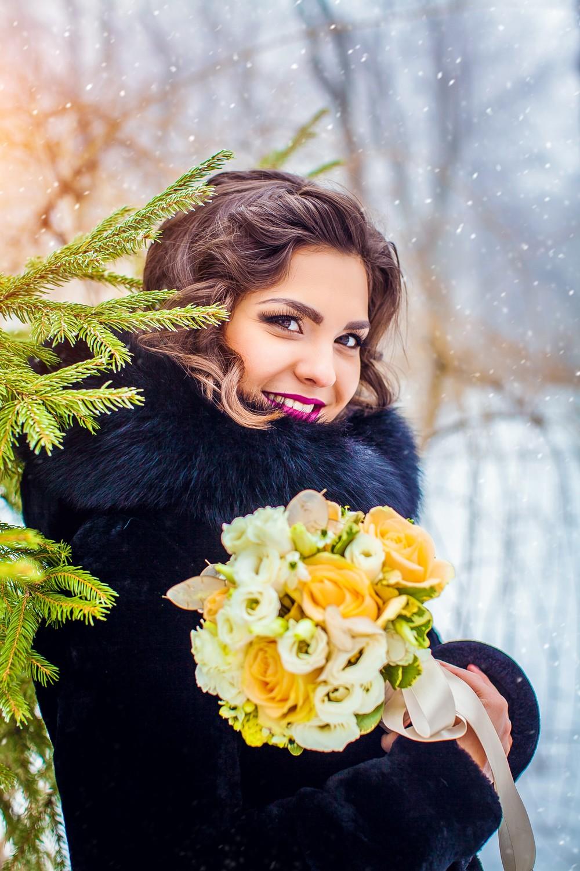 Невеста в зимней природе - фото от Татьяны Поповой