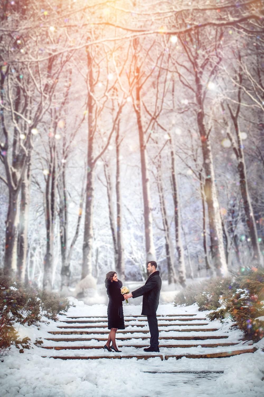 Свадебная фото сессия от Татьяны Поповой в лесу
