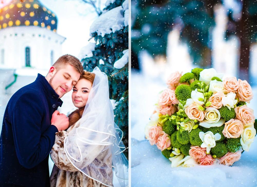 Зимняя свадебная фото сессия от Татьяны Поповой
