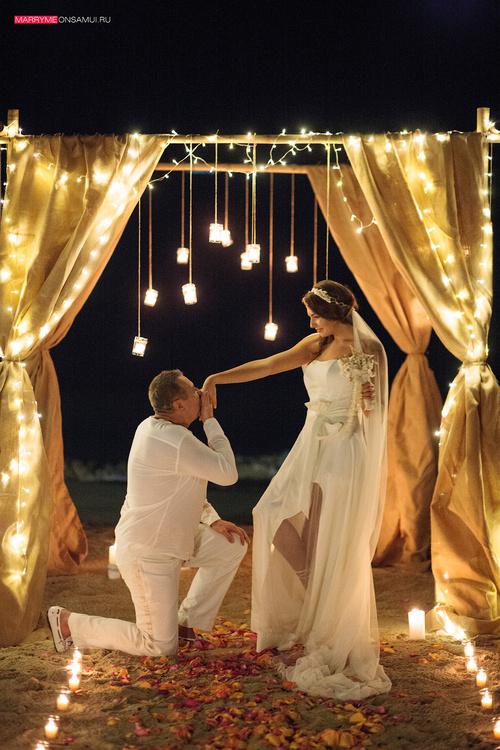 Ночная свадьба на Самуи