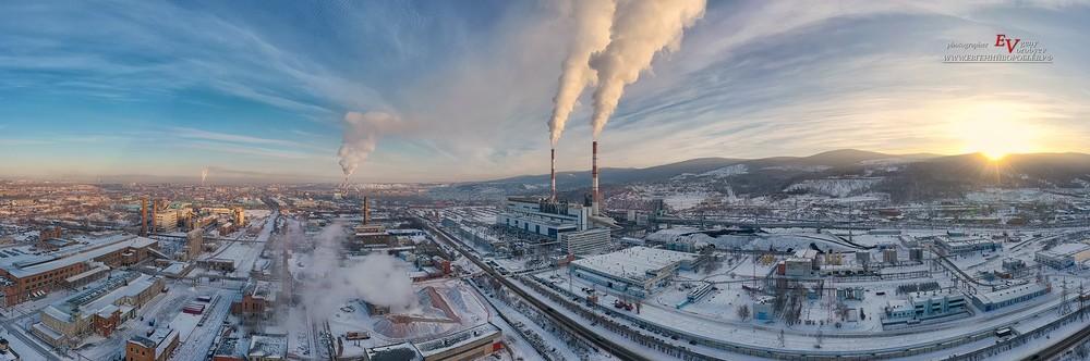 ТЭЦ теплоэлектростанция Красноярск фото фотограф индустриальная производство алюминий электричество