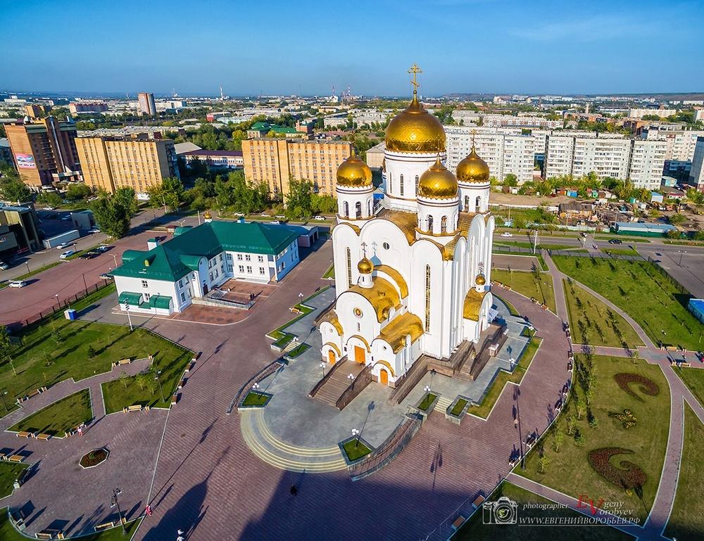 фото Красноярска с высоты квадрокоптер храм церков