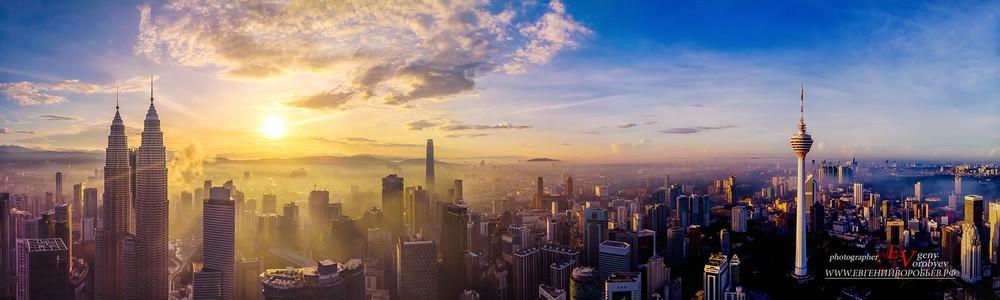 аэросъемка квадрокоптер дрон фотограф Красноярск Куала-Лумпур Сингапур город пейзаж