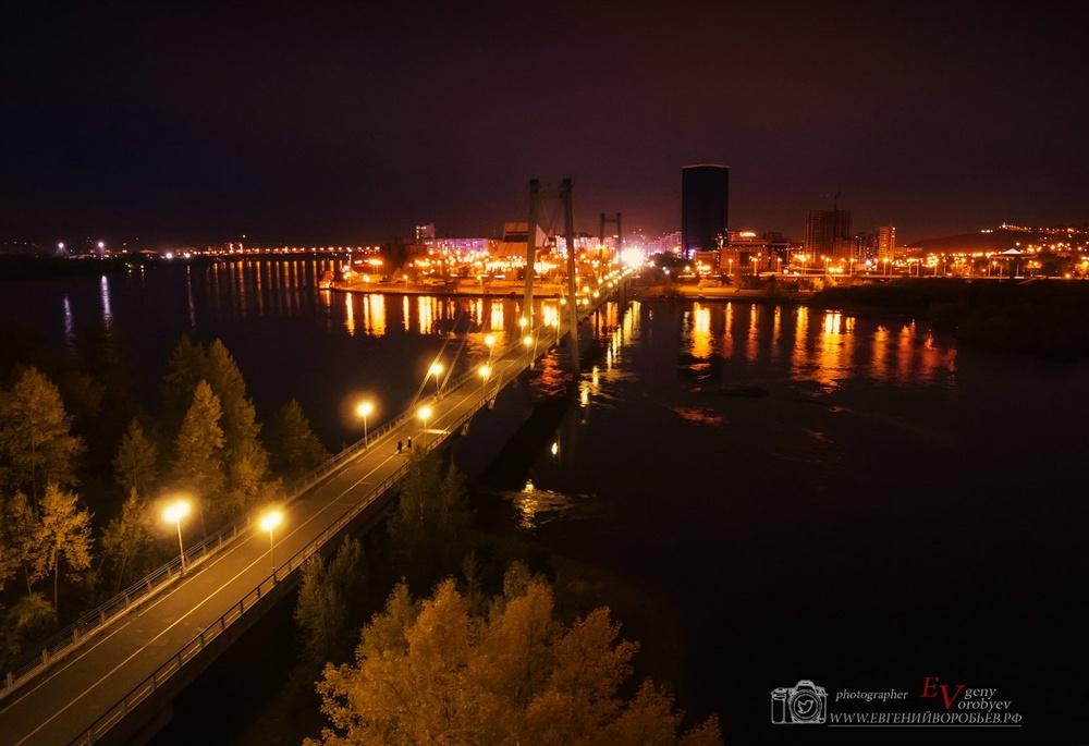 фото Красноярска с высоты квадрокоптер видео ночь