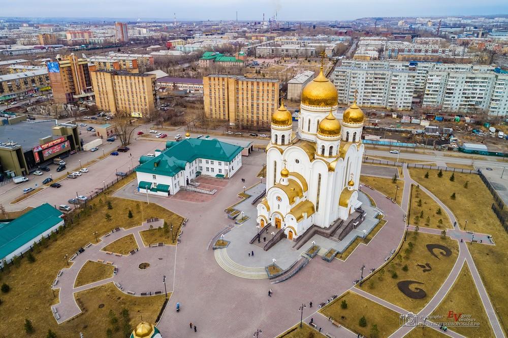 аэросъемка квадрокоптер Красноярск фото видео аренда церковь часовня высоты