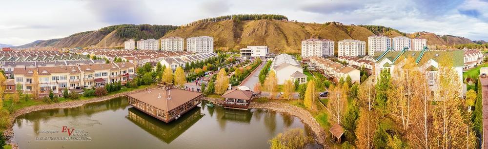 коттедж поселок Удачный Красноярск аэросъемка фотосъемка ресторан Монплизир  Mon Plaisir
