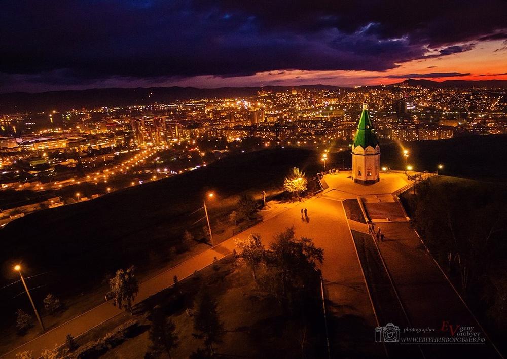 фото Красноярска с высоты часовня квадрокоптер