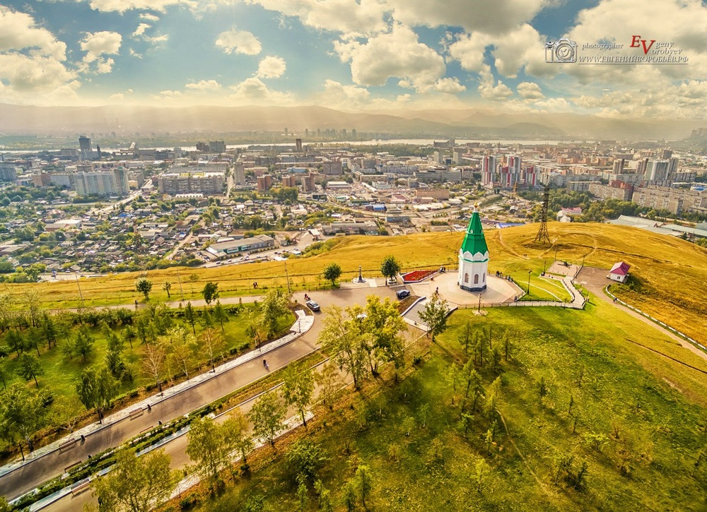фото Красноярска с высоты квадрокоптер