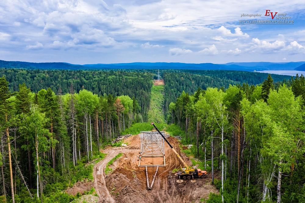 индустриальная промышленная фотосъемка фотограф Красноярск установка монтаж ЛЭП ГЭС