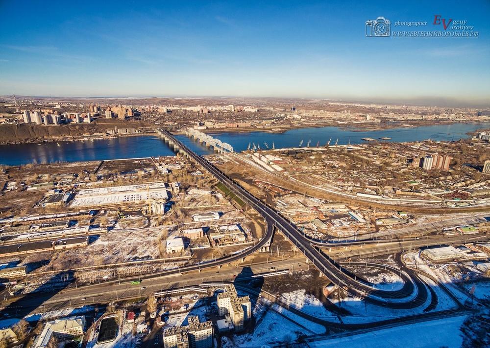 фото Красноярск высоты квадрокоптер мост видео