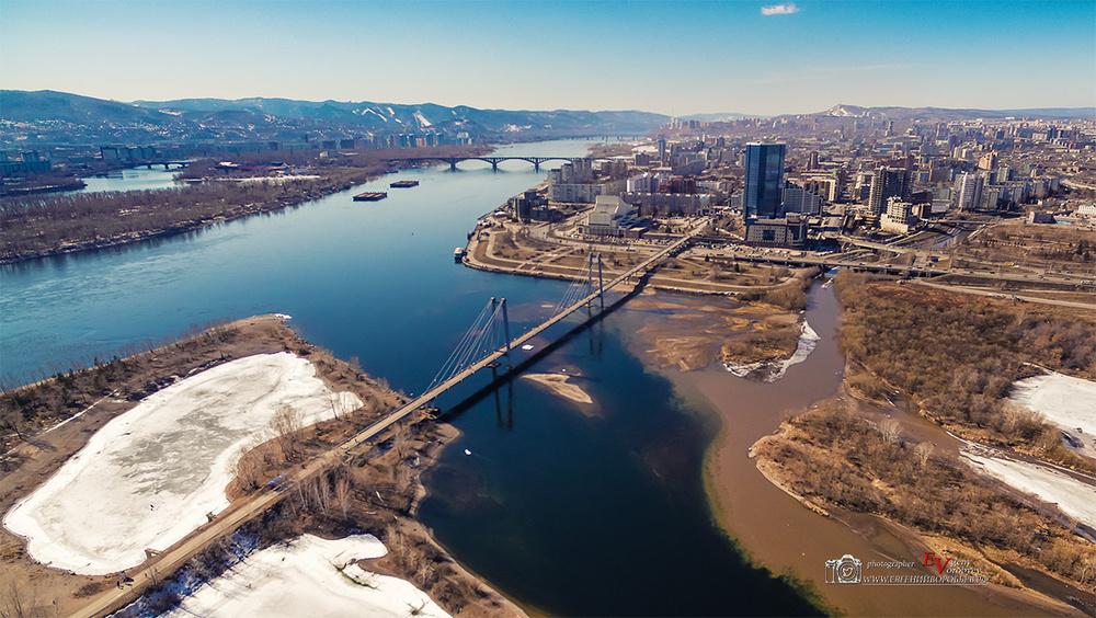 фото Красноярска с высоты мост квадрокоптер