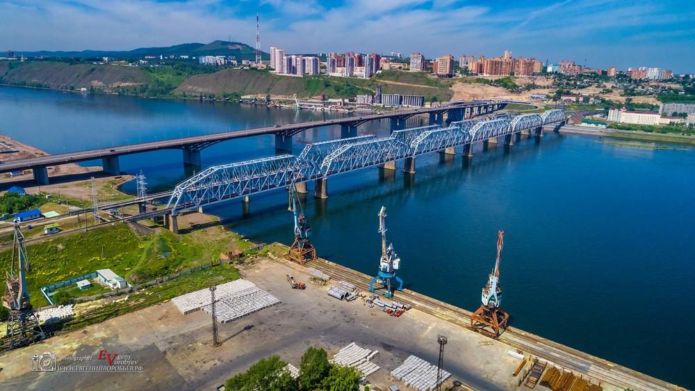 красноярск Енисей 4 четвертый мост съема  с квадрокоптера аэросъемка фото видео