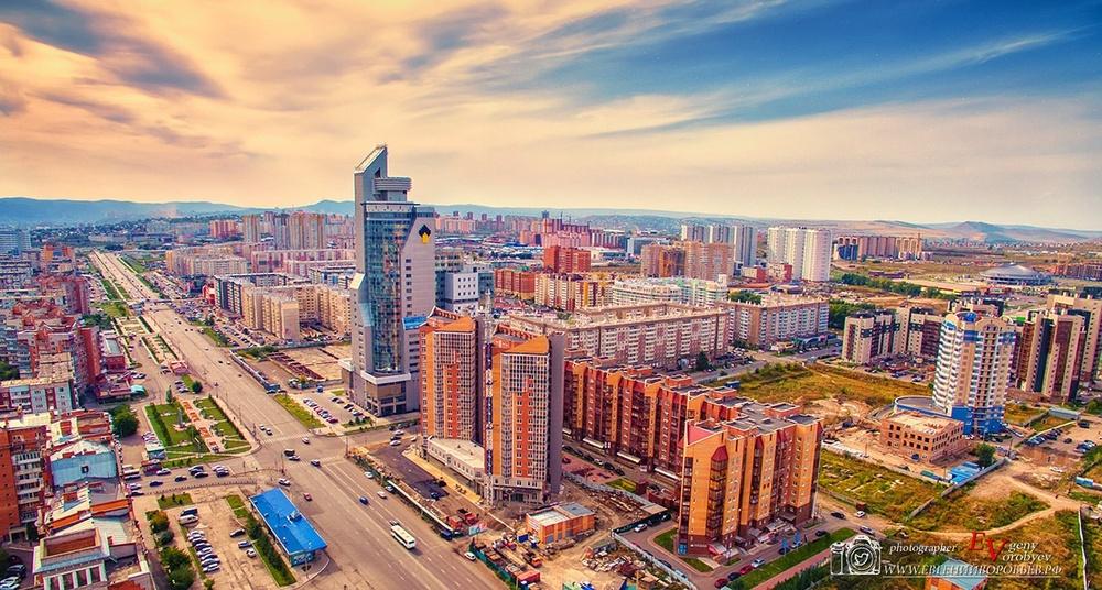фото Красноярска с высоты квадрокоптер молокова роснефть первая башня