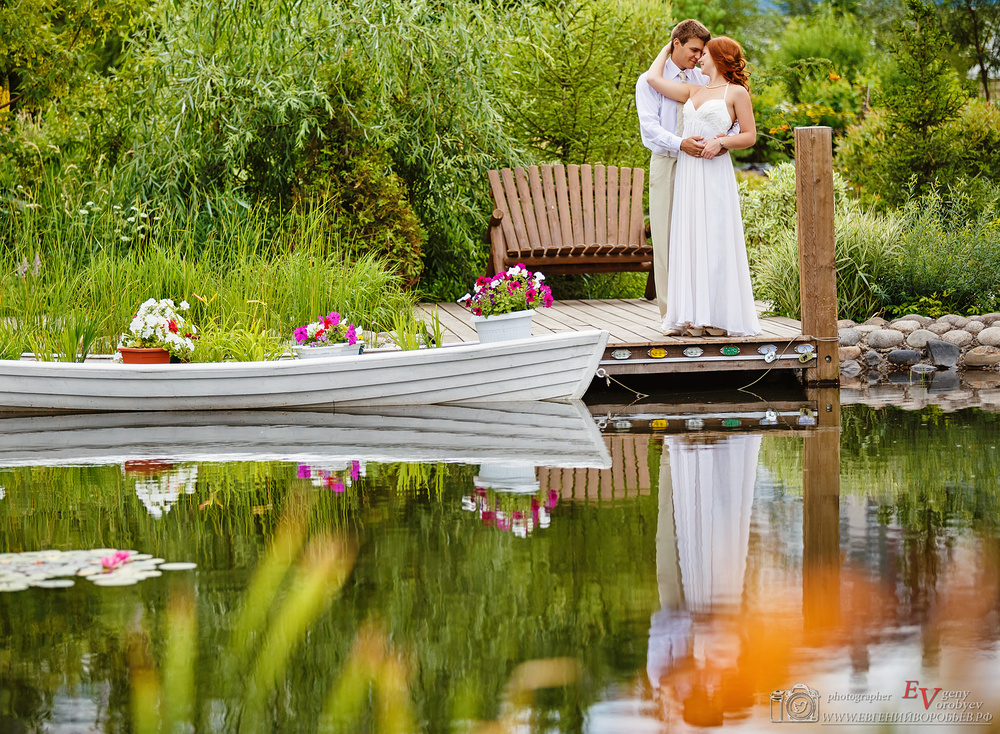 Свадебное фото фотограф в Красноярске сады мечты