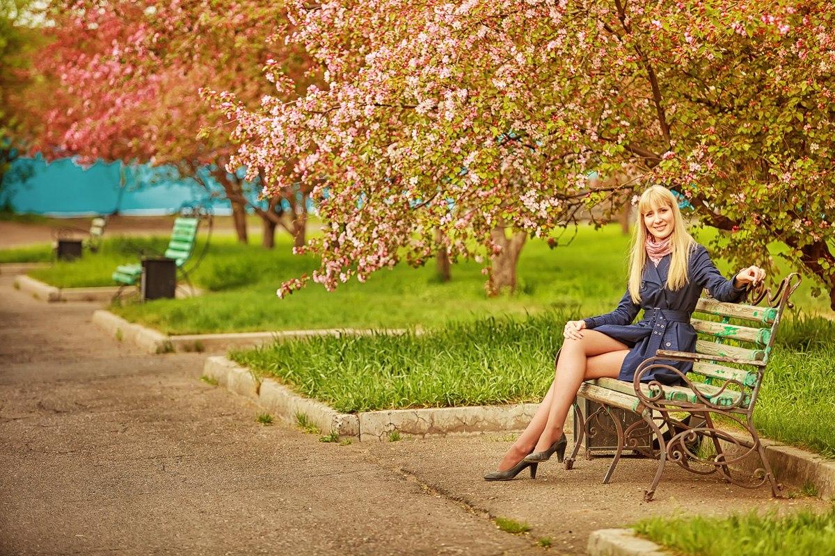 фото на природе фотосессия Красноярск яблоня весна
