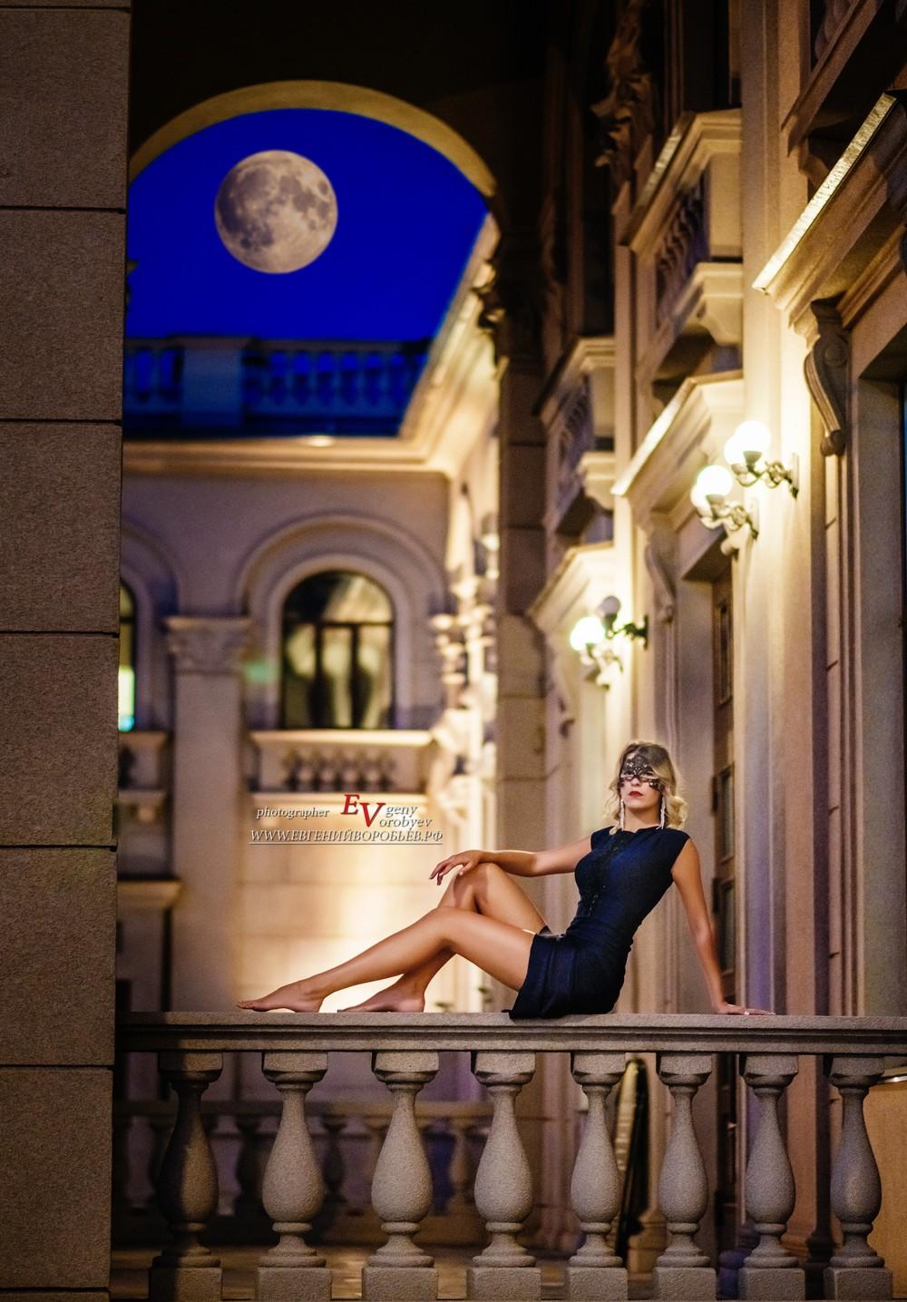 идея место красивая фотосессия девушка улица Красноярск фотограф ночь город
