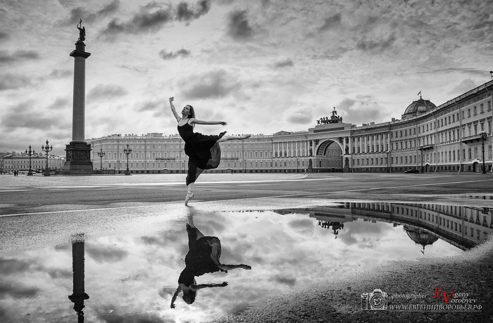 фотосессия фотограф Красноярск Санкт Петербург Ленинград балет балерина дворцовая площадь