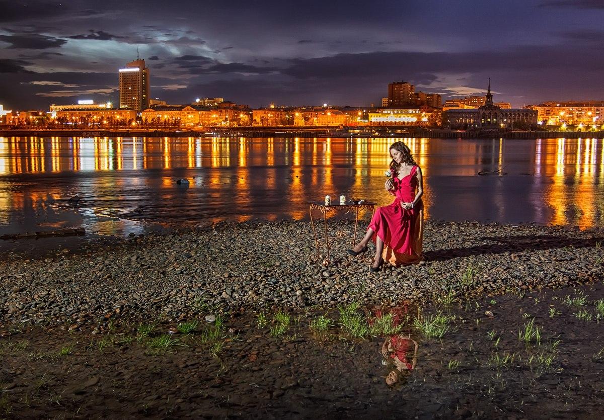 фотосессия фотограф Красноярск красивая девушка платье макияж прическа визажист