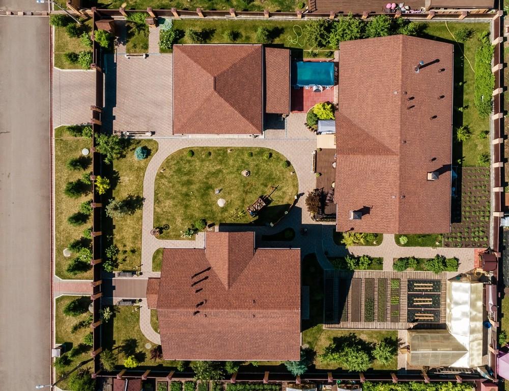 аэросъемка квадрокоптер недвижимости дом коттедж поселок дача участок фото видео продажа