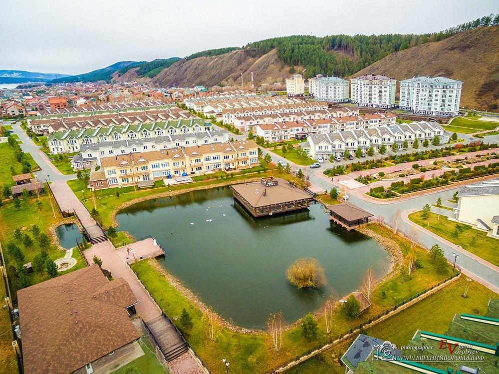 съемка с квадрокоптера недвижимость Красноярск продажа поселок коттежд  Енисей озеро
