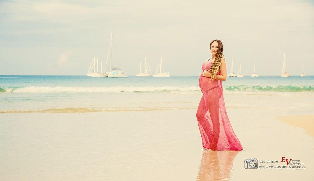 фотосессия беременности Красноярск на море Пхукете Phuket девушка в ожидании чуда пляж