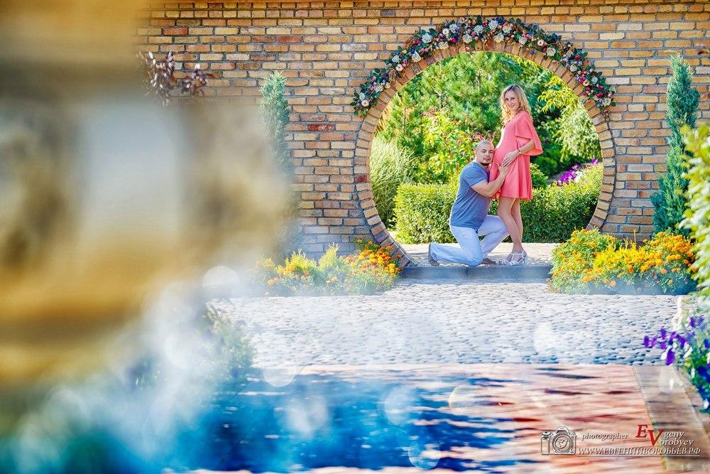 фотосессия беременности Красноярск в ожидании чуда сады мечты фотограф