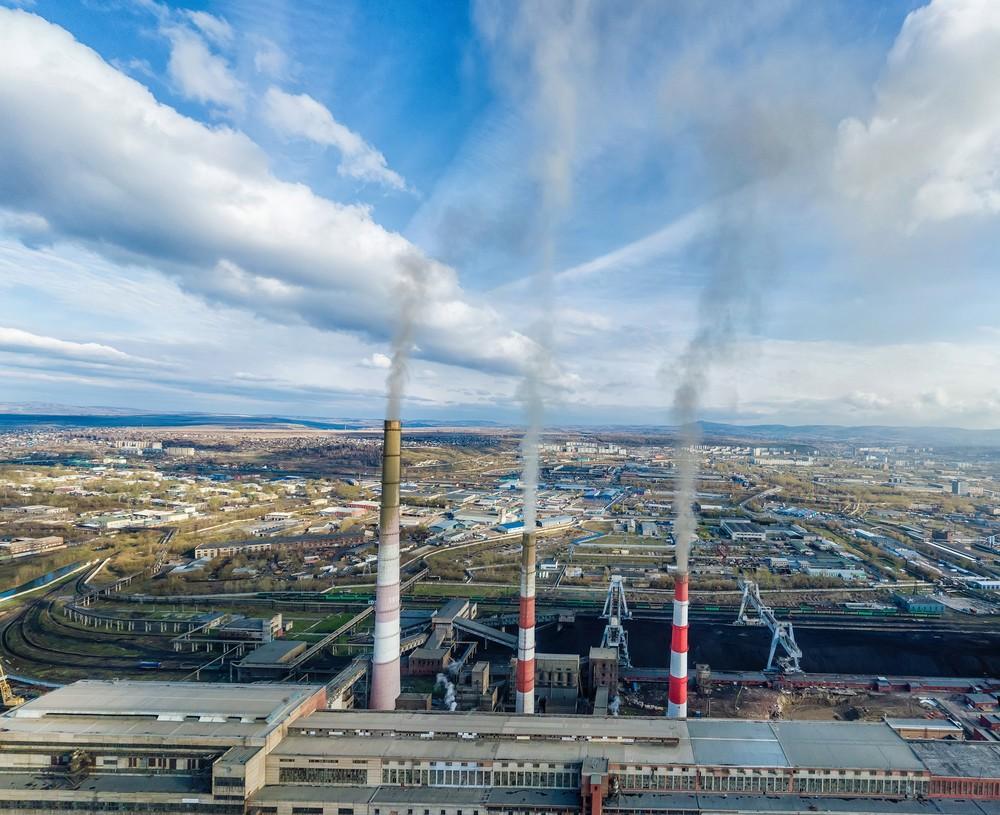 промышленная фотосъемка ТГК Красноярск ТЭЦ труба фотограф  индустриальная экология