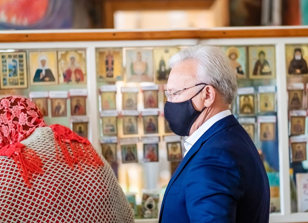 губернатор Красноярского Края Александр Усс успенский монастырь вера новости христианство Енисей