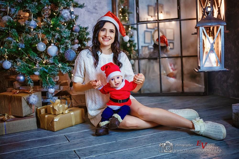 семейная детская Новогодняя фотосессия фотограф Красноярск идея красивое не дорого лучший фотостудя