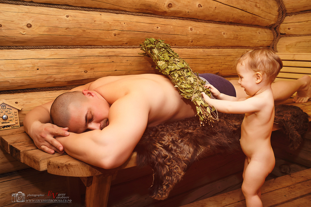 семейная детская фотосессия лучший фотограф Красноярск красиво не дорого выезд баня ребенок