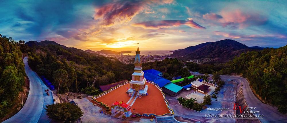 Тайланд Пхукет Храм Патонг закат Буддизм религия фотограф Евгений Воробьев