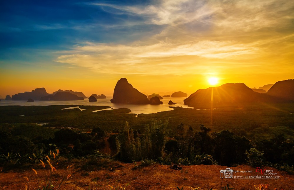тайланд остров Пхукет Phuket пейзаж путешествие красивое место рассвет закат